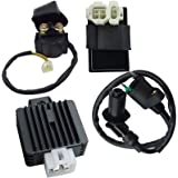hity motor replaces 6 pin cdi ignition coil solenoid relay voltage  regulator for 50cc 125cc 150cc