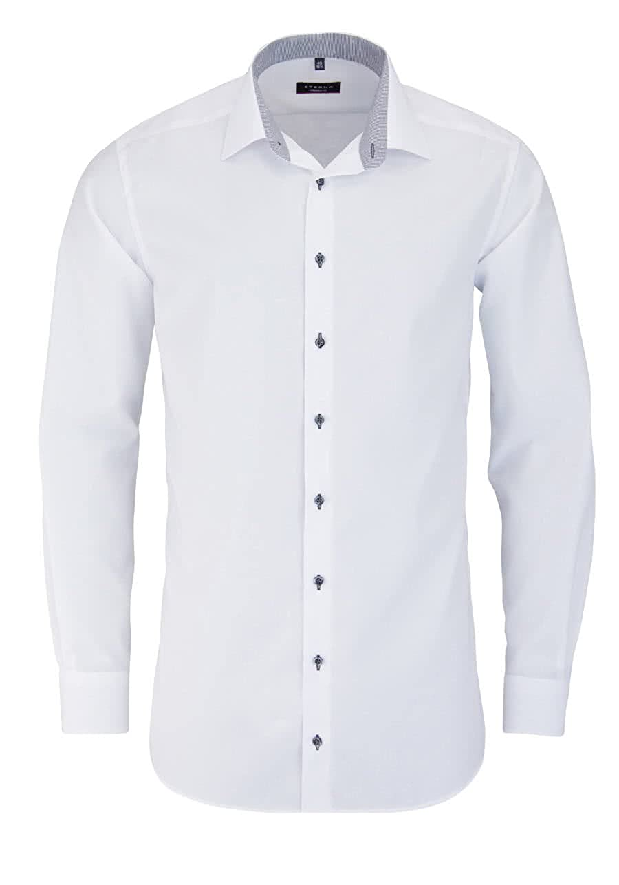 Eterna - Camisa Formal - Liso - Clásico - Manga Larga - para Hombre