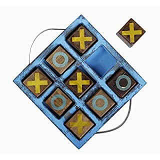 Handmade Wooden Tic Tac Toe Game for Kids for All Occasions