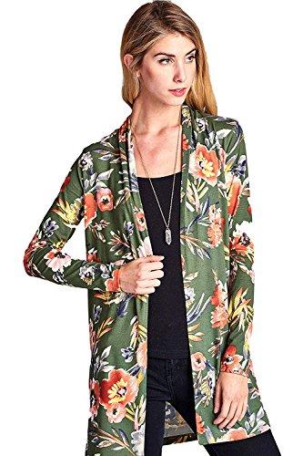 [ReneeC.][ReneeC. レディースカーディガンWomen`s Lightweight Open Front Multi Print Cardigan - Made In USA ](並行輸入品)