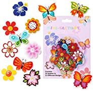 MINI-FACTORY Bike Wheel Spokes Decoration Stickers for Kids - Colorful Cute Pattern Sticker Bicycle Bead Attac