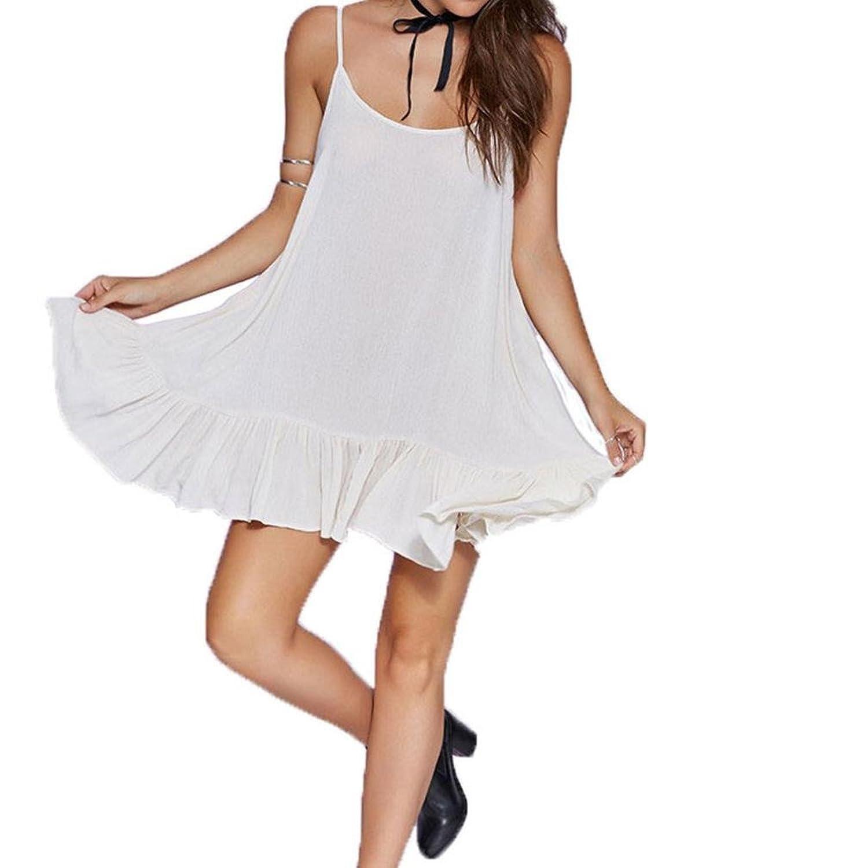 AutumnFall Women Backless Camisole Sexy Sleeveless Bodycon Mini Dress