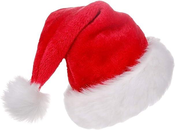 Nikolausmütze Plüsch Karneval Weihnachtsmann Zubehör