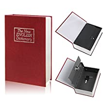 Dictionary Hidden Book Safe with Key Lock Large Size Red