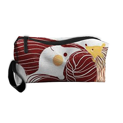 Funny Girl Hedgepig Travel Cosmetic Bag Tote Pencil Case Pouch Make Up Bags For Girls