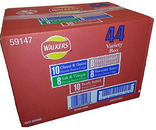 Crisp Box - Walkers Crisps 6 Pack (44 Variety Pack Bumper Box)