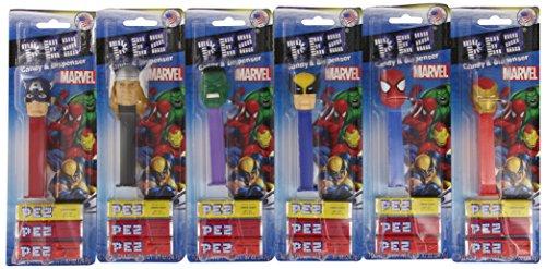 Marvel Superheroes Pez Dispensers (Pack of 12)