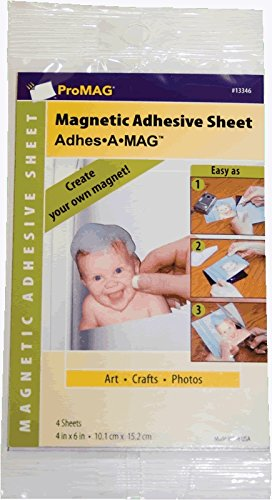 ProMAG #13346 Magnetic Adhesive Sheet, 4'x6', 4 sheets
