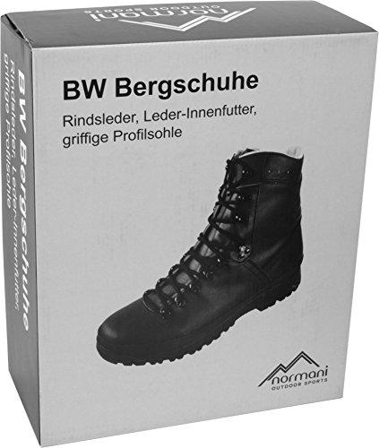 Bergschuh mit rutschfester antistatischer Bergstiefel Schwarz normani Profilsohle und BW 5SPxwqUF