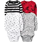 Carter's Baby Boys Multi-Pk Bodysuits 126g459, Assorted, 3M