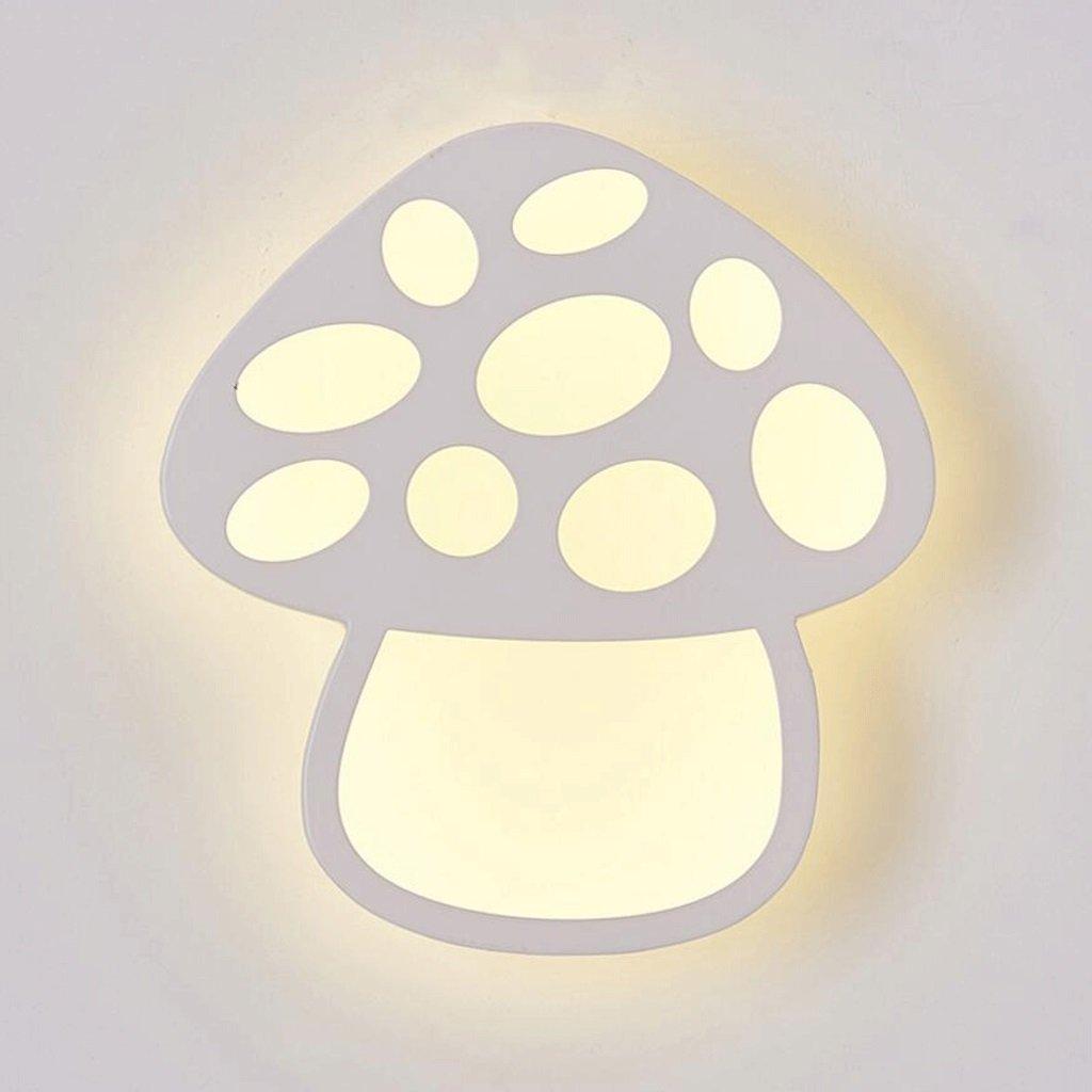 Unbekannt GAODUZI Pilz Wandleuchte Modernen Minimalistischen Kinderzimmer Ganglichter LED Mode Persönlichkeit Schlafzimmer Zimmer Kreative Beleuchtung Lampen Pilz Wandleuchte 12 watt DREI-Farbe Licht
