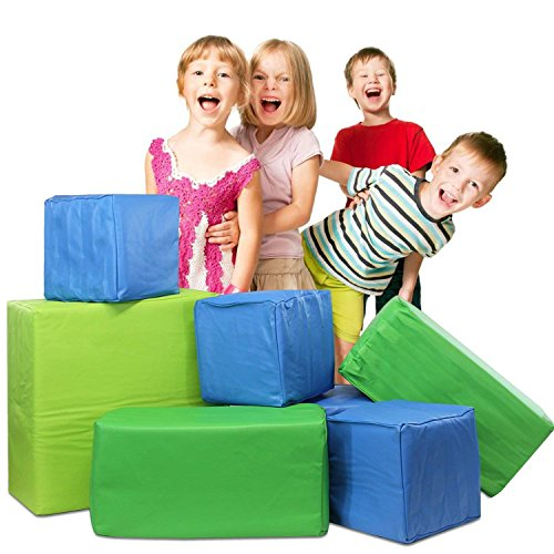 Weizzer Toys Memory Foam Soft Building Jumbo Blocks Set For Kids - 7Piece Bundle ()