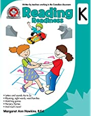 Reading Readiness Kindergarten: Rhyming, sight words, word families, matching games and much more! 64 Pages Full-Colour Workbook: Canadian Curriculum Press