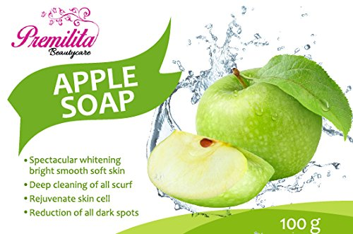 apple-soap-by-premilita-beautycare-natural-soap-for-facial-and-body-cleansing-100-g-6-bar