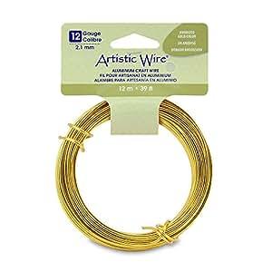 amazoncom artistic wire 12 gauge round anodized aluminum