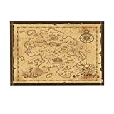NYMB Vintage Decor, Treasure Map and Pirate Emblem Sailboat Compass Crossed Sabers Bath Rugs for Bathroom, Non-Slip Floor Entryways Outdoor Indoor Front Door Mat, Kids Bath Mat, 15.7x23.6in (Multi26)