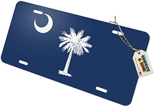 SOUTH CAROLINA State Flag  Custom License Plate State Emblem ORIGINAL Version
