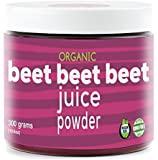 Beet Beet Beet- Organic Beet Juice Powder, 300 grams, 100% Pure USA Grown Beets, Certified Natural Nitrates, No Additive or Flavors