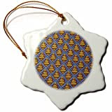 3dRose orn_70848_1 Malaysia, Penang, Thai Buddhist Temple, Buddha AS23 CMI0145 Cindy Miller Hopkins Snowflake Porcelain Ornament, 3-Inch