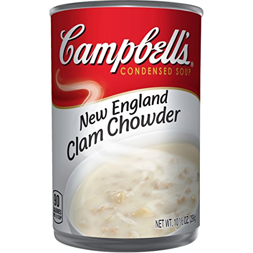 New England Clam Chowder - Campbell's Condensed New England Clam Chowder, 10.5 oz. Can (Pack of 12)