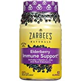 Zarbee's Naturals Elderberry Immune Support* Gummies with Vitamin C, Zinc, Natural Berry Flavor, 60 Count