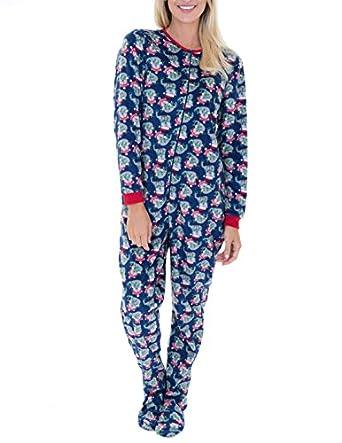 Amazon.com: Rene Rofe Juniors Plush Onesie Footie Pajamas: Clothing