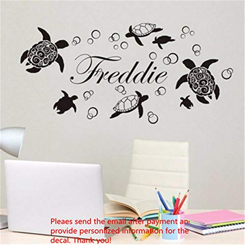 Soesa Wall Decal Sticker Art Mural Home Decor Quote Cool Custom Made Personalized Name Sea Turtle Ocean Kids Home]()