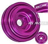Rxmotor Acura Honda B-series B16 B18 Crank Shaft Case Harmonic Balancer Pulley Wheel Purple