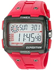 Timex Mens TW4B03900 Expedition Grid Shock Red Resin Strap Watch