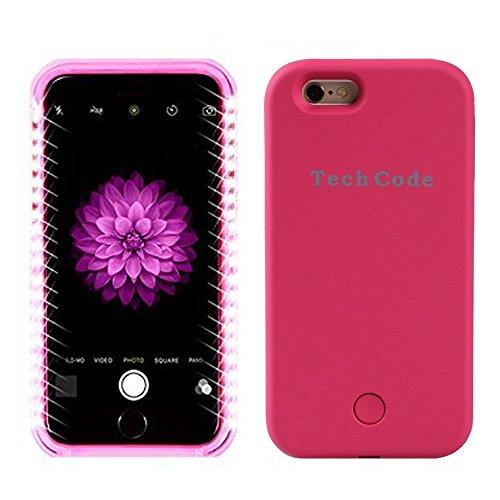 Samsung Galaxy S6LED iluminado Caso de Protectora/Schutzhülle, elecfan Smart illuminated de funda protección iluminada con LED Teléfono Móvil/Case, 2016nuevo entwurfs Hot Pink Hot Pink