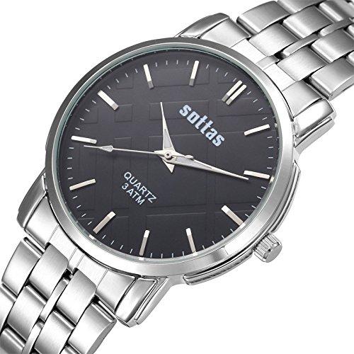 Niza Pareja Reloj de pulsera fabricantes al por mayor sottas franja de negocios hombres mujeres pareja Simple reloj de pulsera w: Amazon.es: Relojes