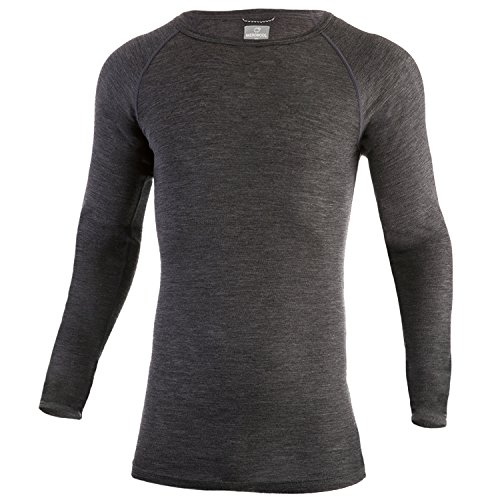MERIWOOL Mens Merino Wool Lightweight Form Fit Baselayer Pullover Top - Medium by MERIWOOL