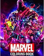 Marvel Coloring Book: 50+ Super heroes Design to Color Great Infinity Wars Books for for Kids, Adults and Superheroes Fan