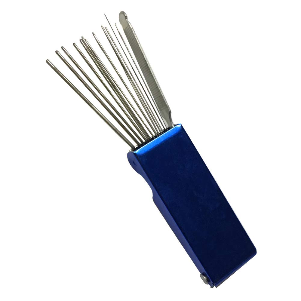 bleu 1,6/ mm 13/ en 1//de soudage au gaz de coupe Buse Cleaner Set aiguille de soudure lampe torche Pointe Aspirateur MIG Torch Pointe 0,4