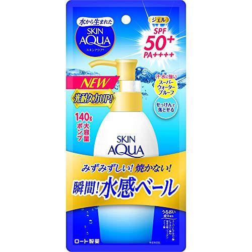 Rohto SKIN AQUA UV Super Moisture Gel Pump 140g SPF50 / PA