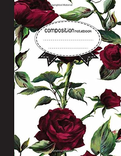 Download Composition Notebook, 8.5 x 11, 110 pages: Beautiful red Rose : (Notebooks) PDF