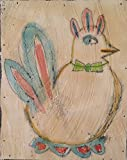 Bok Bok Chicken Bird Painting. Watercolor fresco. - o*Live ORIGINAL