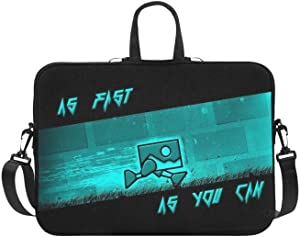 "CHRISTIE QUINN Geometry Dash As Fast As You Can Messenger Laptop Bag (11"" / 11.6"")"