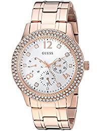 GUESS Women's Quartz Stainless Steel Casual Watch, Color:Rose Gold-Toned (Model: U1097L3)