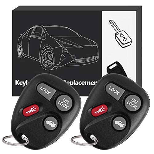 (YITAMOTOR Key Fob Compatible for 2001 2002 2003 2004 2005 Chevy Impala/Monte Carlo Chevrolet/Buick Lesabre Keyless Entry Remote Replacement for KOBLEAR1XT 10443537)