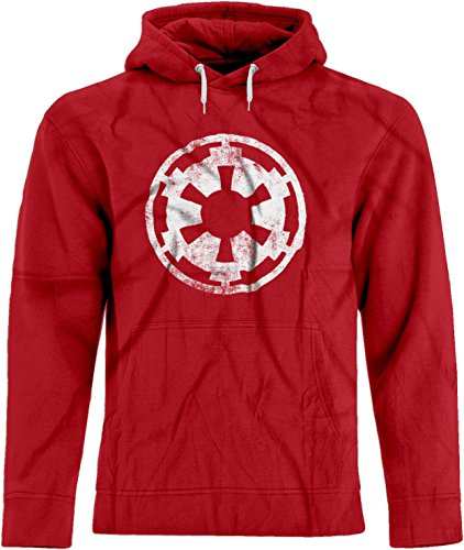 BSW Men's Star Wars Imperial Crest Empire Logo Sith Lord Premium Hoodie SM Red ()