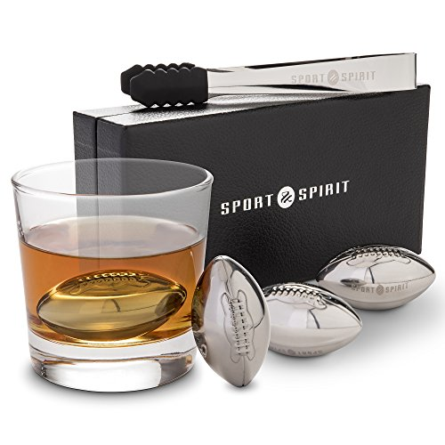 Stainless Steel Whiskey Stones | 4 Piece Whisky Chilling Stones for Liquor, Scotch, and Spirits | 4 Drink Cubes with Tongs, Drawstring Case and Luxurious Box | Reusable Beverage Cooling (Martini Chiller Set)