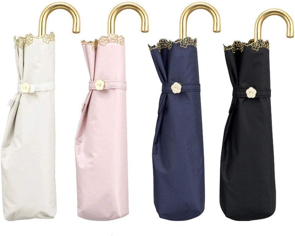 Ladies umbrellas ladies sun umbrellas@B three-fold umbrellas UV protection sun protection umbrellas edge flowers travel