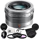 Panasonic LUMIX G Leica DG Summilux 15mm f/1.7 ASPH. Lens (Silver) + 5 Piece Essentials Accessory Kit