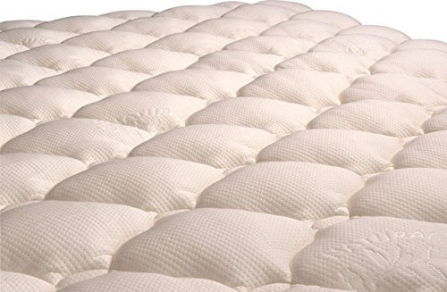 VirtueValue Bamboo Mattress Pad with Fitted Skirt - Extra Plush Cooling Topper - Manufacturer Defects (Queen)
