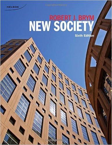 Cdn Ed New Society Robert J Brym 9780176501839 Amazon Com Books