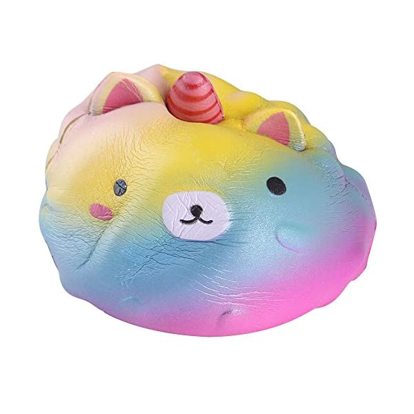 Anboor 4.3 Inches Squishies Unicorn Panda Jumbo Slow Rising Kawaii Scented Soft Colorful Animal Squishies Toys Color Random,1 Pcs 6