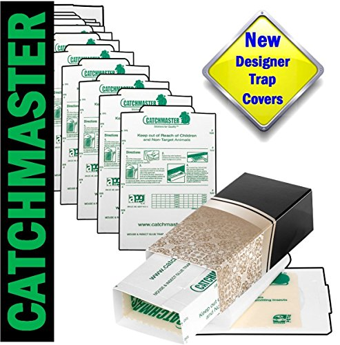 Catchmaster Glue Traps 10 Pk & Mr. Masterson Tan Designer Covers for Mouse, Insects, Bed Bugs, Spiders, Crickets & Roaches. Non-Toxic Peanut Butter Scent Sticky Boards. Insecticide Free Pest Control. (Hotel Bell No Slip compare prices)