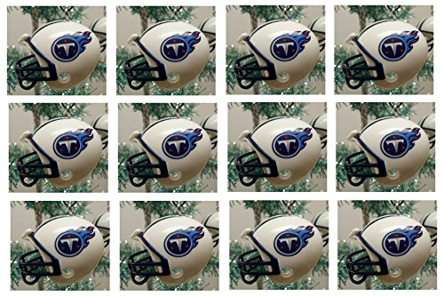 Tennessee Titans Set (Tennessee Titans Set of 12 Holiday Christmas Tree Ornaments Featuring Titans Team Ornaments Ranging from 1.5