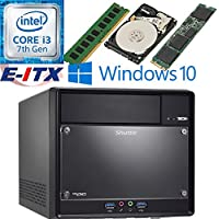 Shuttle SH110R4 Intel Core i3-7100 (Kaby Lake) XPC Cube System , 4GB DDR4, 480GB M.2 SSD, 2TB HDD, DVD RW, WiFi, Bluetooth, Window 10 Pro Installed & Configured by E-ITX